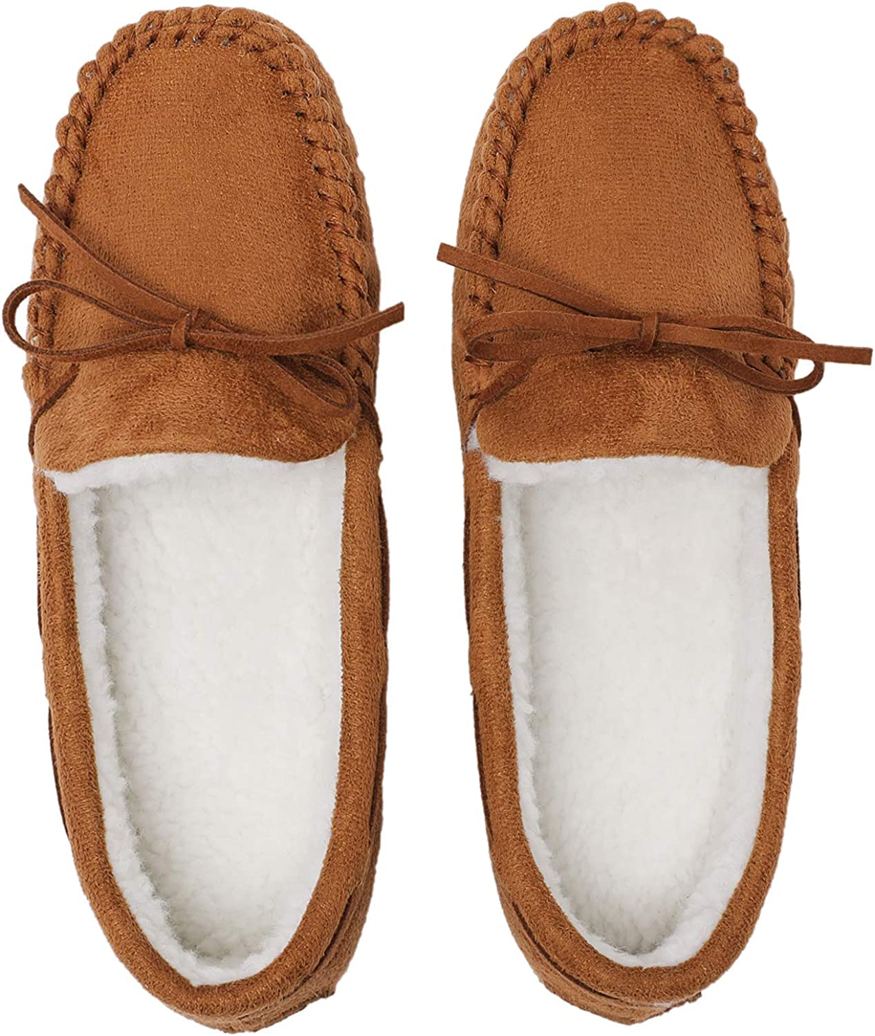 Veittes Women's House Slippers - Comfort Soft Comzy Winter Indoor Outdoor Sole House Shoes.
