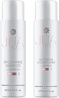 Jua Essentials Premium Shampoo & Conditioner Bundle Set. Uniquely formulated to repair, restore, retain and rejuvenate hair. By Hill Harper