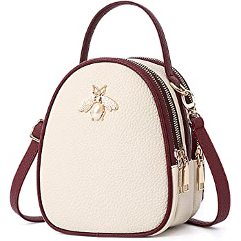Rose Red New Cream Dog Print Satchel Bag with Matching Purse Adjustable Strap
