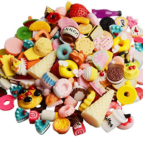 09e339496 Coolrunner Mixed Food Resin Flatback Kawaii Cabochons Decoden (60)