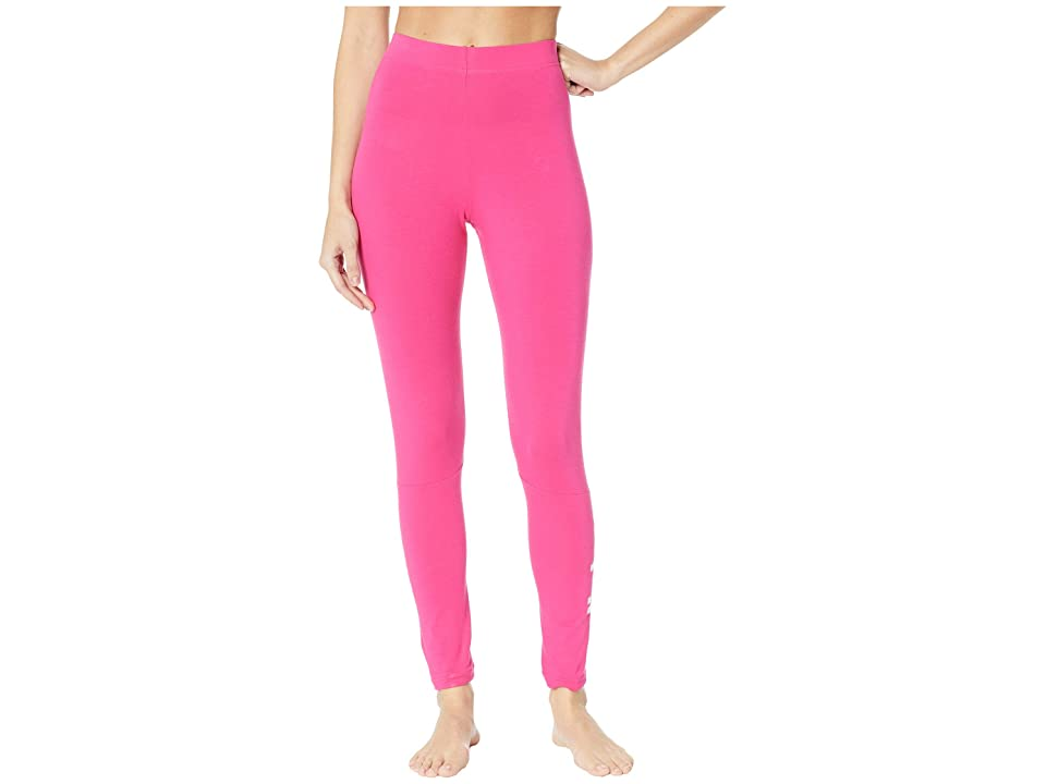 adidas Essentials Linear Tights (Real Magenta/White) Women