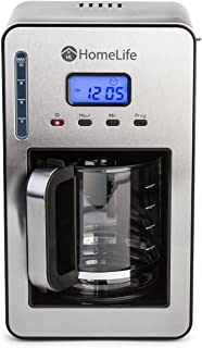 HomeLife Programmable 12-cup Coffee Maker With Temperature Control, Stainless Steel