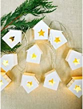 Ivory House Houses with Stars LED Garland