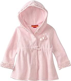 Girls' Long Sleeve Terry Coverup Hoodie Dress in Pink