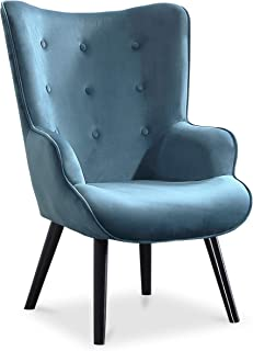 comprar comparacion Adec - Voss, Sillon de diseño, butaca de Espera Fija, Patas nórdicas en Madera Color Negro, descalzadora tapizada en Color...