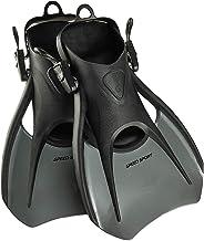 Phantom Aquatics Sport Snorkel Fins, Adjustable Travel Size Adult Swim Fin with Carry Mesh Bag