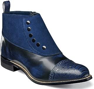 blue ostrich boots
