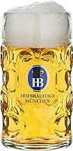 German Beer Mug Munich Hofbräuhaus München HB glass mug 0.5 liter King Werk KI 1000062