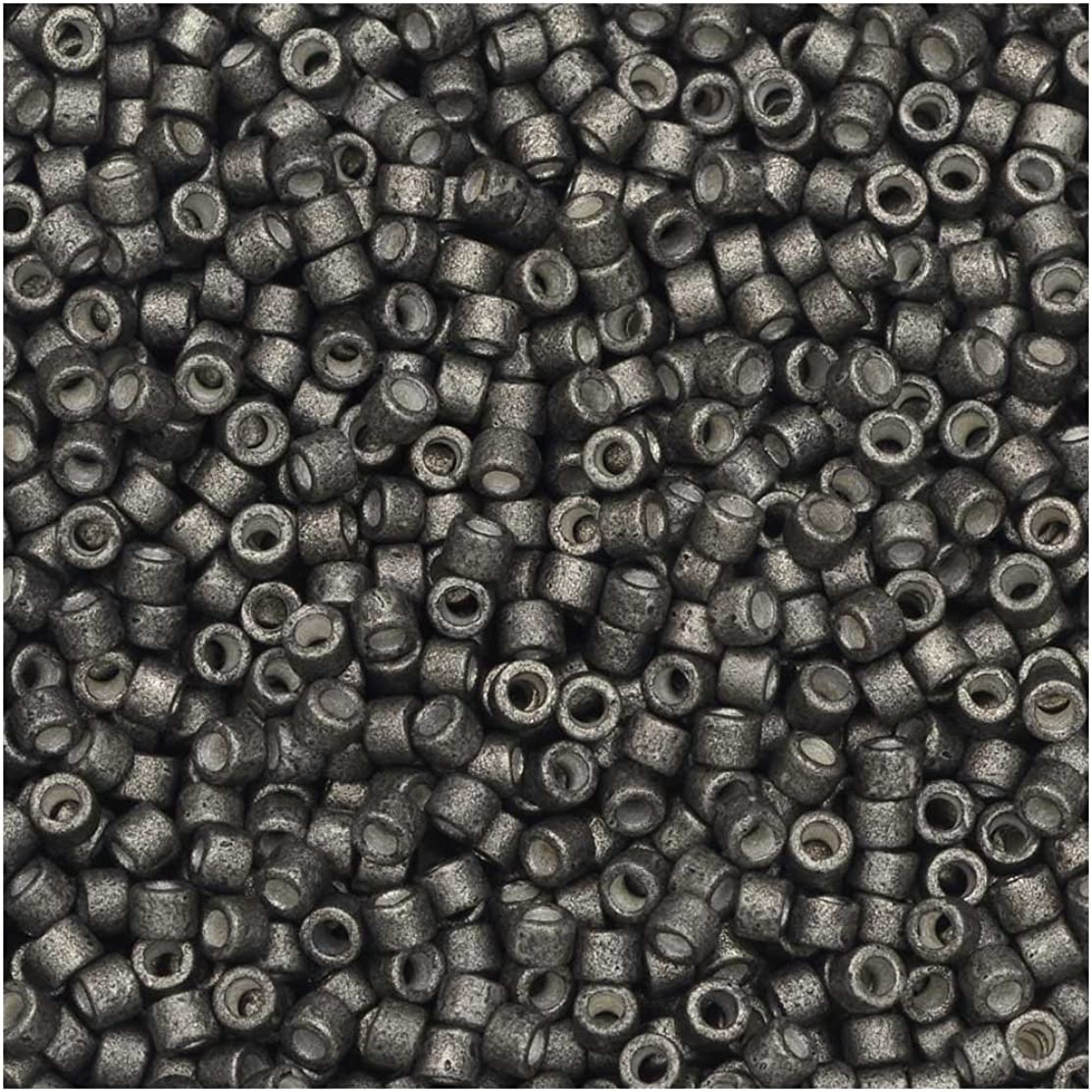 Galvanized Matte Graphite (Db1175) Delica Myiuki 11/0 Seed Bead 7.2 Gram Tube Approx 1400 Beads