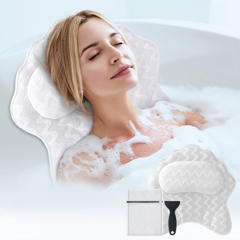 Bath Pillow for Max 90% OFF Tub Powsure Head Bathtub Max 72% OFF Spa Luxury