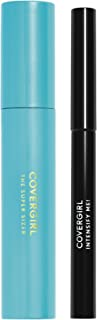 COVERGIRL Super Sizer Mascara Very Black 800 and Intensify Me! Eye Liner Intense Black 300 Special Pack, .448 oz (packaging may vary)