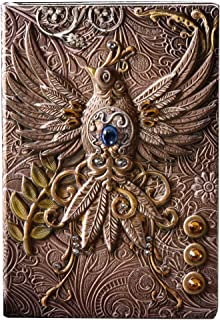 ZHENXI The Phenix Long Life Bird Theme Lined Paper Vintage Retro Note Book,100 Sheets Journal Notepad