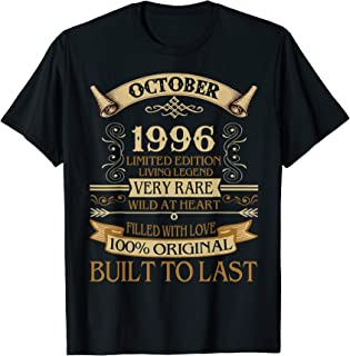 Legends Were Born In October 1996 Classic 23rd Bday Gift T-Shirt