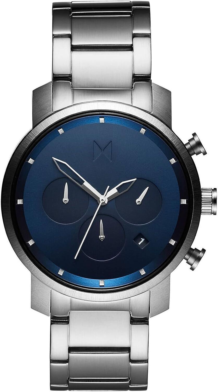 MVMT Reloj Cronógrafo para Hombre de Cuarzo con Correa en Acero Inoxidable D-MC02-SBLU