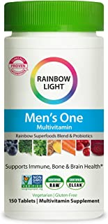 Rainbow Light Men's One Daily High Potency Multivitamin for Immune Support with Vitamin C, D &...