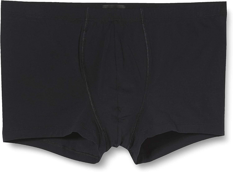 HANRO Men's Cotton Sensation Boxer Brief 73065, Black, XX-Large