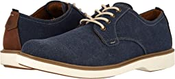 Navy Canvas/Brown Crazy Horse