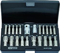 LEXIVON set de douilles m/âles Torx en acier S2 premium LX-143 Set 13 pi/èces /à embout /étoil/é T8 /à T60 Coffret de rangement inclus