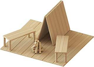 Perfect Stix Krafty Kitz Build Your Own Wooden Craft Stick Kit for Kids - Campsite Complete with Instructions