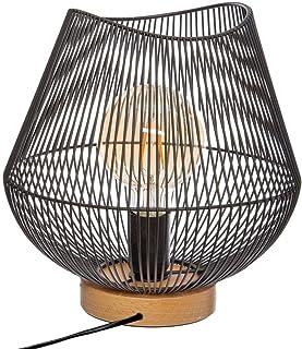 Atmosphera - Lampe en métal Filaire Noir H 28 cm JENA