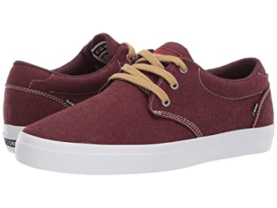 Globe Winslow (Burgundy/Chambray Textile) Men