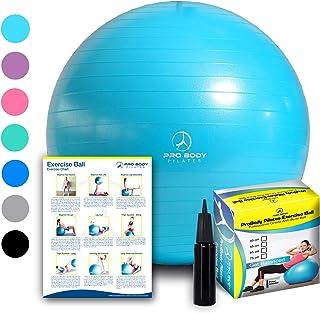 Exercise Ball - Professional Grade Anti-Burst Fitness,...