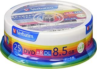 Verbatim DTR85HP25V1 8.5GB DVD+R DL 25pieza(s) DVD en Blanco - DVD+RW vírgenes (8,5 GB, DVD+R DL, 120 mm, 25 Pieza(s), 8X)