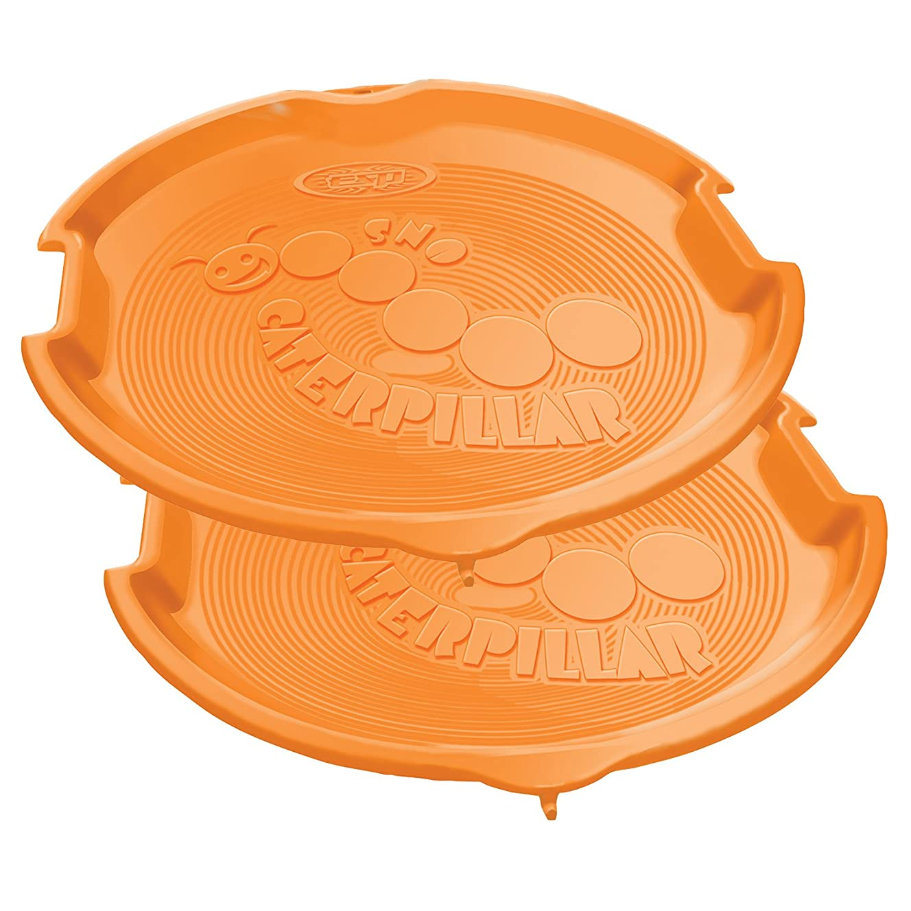 Emsco Group ESP 1055-2 Snow Caterpillar Linkable Disc Sled, 26 Inch 2 Pack, Orange