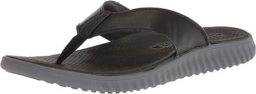 Steve Madden Men& 039;s Santee Sandal, Dark braun, 12 M US