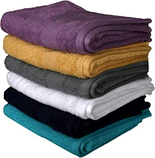 RAJRANG BRINGING RAJASTHAN TO YOU Pack of 6 - Soft Extra Large Hand Towels - 100% Cotton Luxurious Daily Use Towels for Ba...