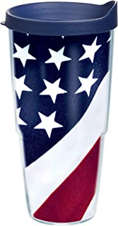 Tervis American Flag Colossal Tumbler With Lid, 24 oz - Tritan, Clear