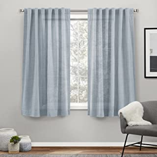 Exclusive Home Curtains Bella Sheer Hidden Tab Top Curtain Panel Pair, 54x63, Melrose Blue