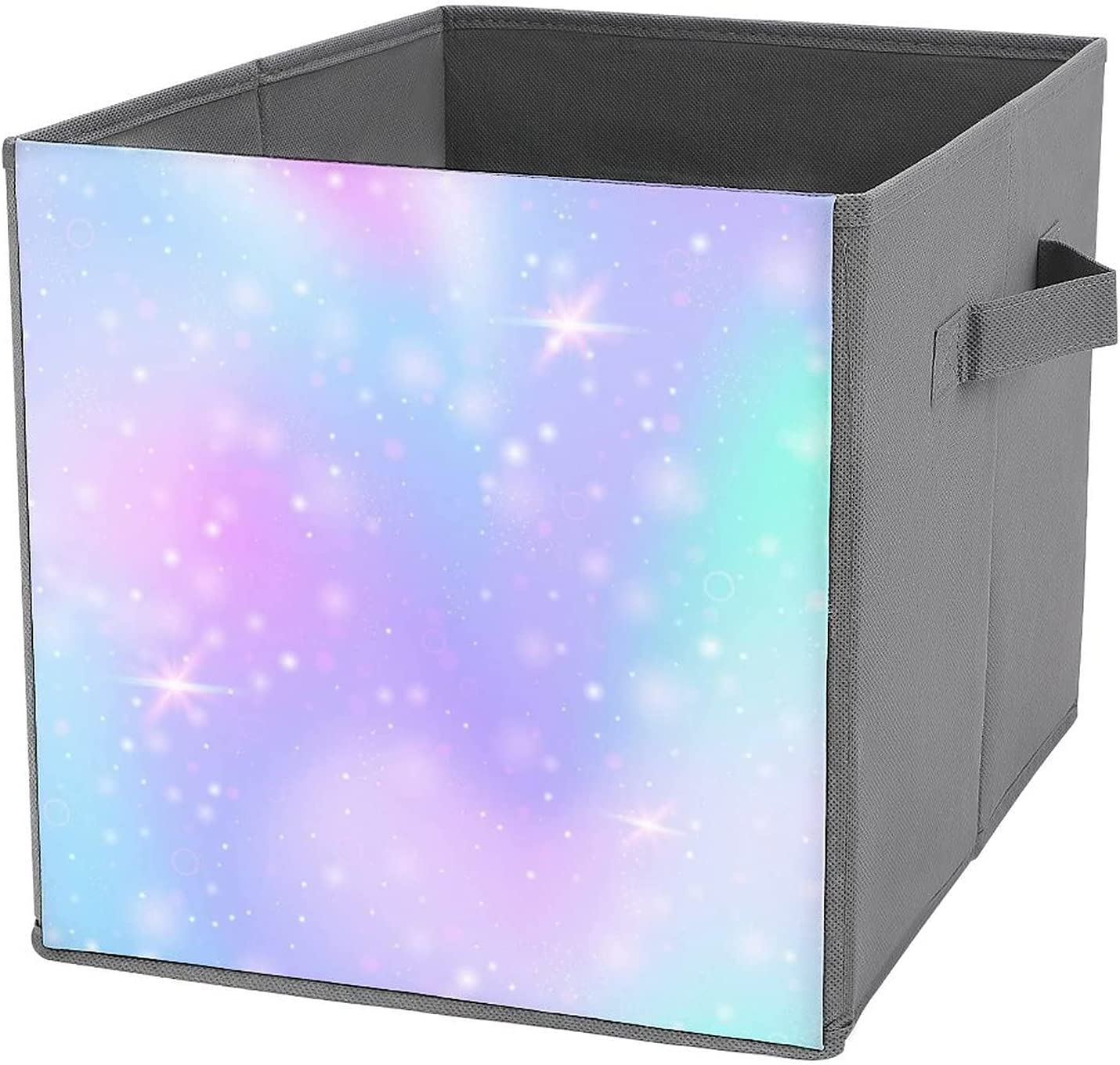 Large-scale sale DGHREAW San Diego Mall Dreamy Colors Foldable Storage Bin Basket Collapsible Cu