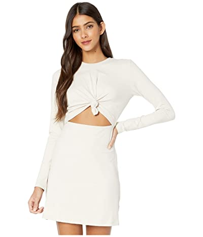 Susana Monaco Long Sleeve Knot Front Dress (Blanched Almond) Women