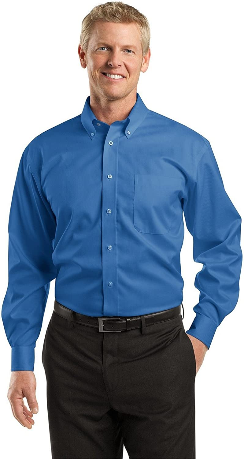 Big Mens Dobby Non-Iron Button-Down Shirt by Red House (Big & Tall and Regular Sizes)