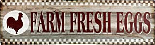 "Barnyard Designs Farm Fresh Eggs Retro Vintage Tin Bar Sign Country Home Decor 15.75"" x 4"""