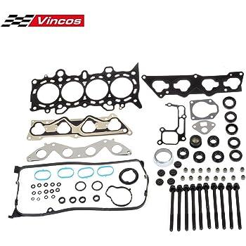 Vincos Head Gasket Set with Head Bolts Compatible with Civic DX LX 2001-2005 VTEC D17A1 1.7L
