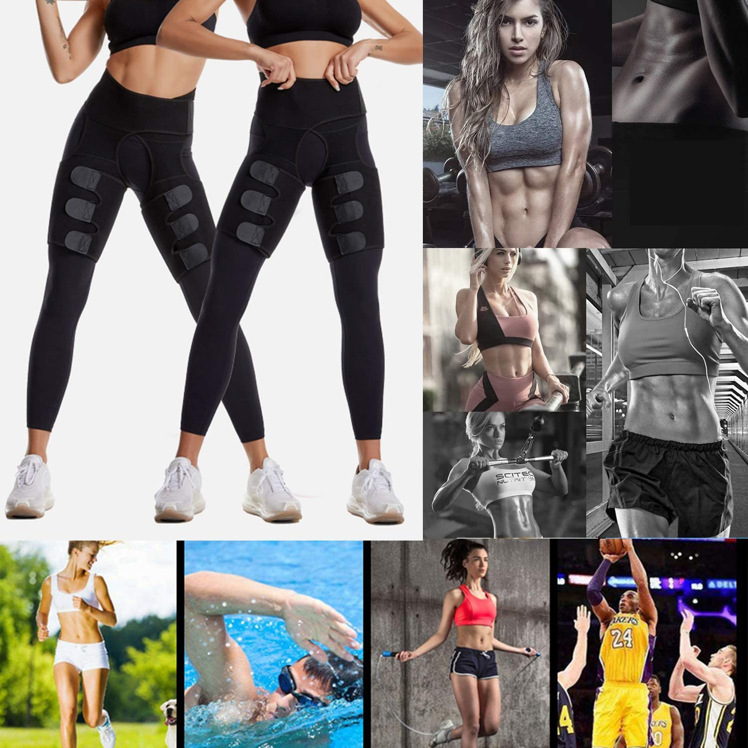 2020 Updated Version 3-in-1 Waist Trainer Thigh Trimmers Hip Enhancer Yoga Running Fitness Weight Loss Butt Lifter Trainer Slimming Support for Women