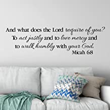 Micah 6:8 Wall Decal, Vinyl Wall Lettering, Vinyl Decal, Scripture Bible Verse, Act Justly Love Mercy Walk Humbly with Your God 13