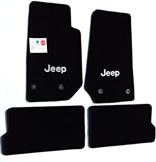 Lloyd Mats Part Compatible with Jeep Wrangler 4 Piece All Weather Carpet Floor Mats with Silver Jeep Logo on Fronts Custom fits 2014-2018 4 Door Model Only
