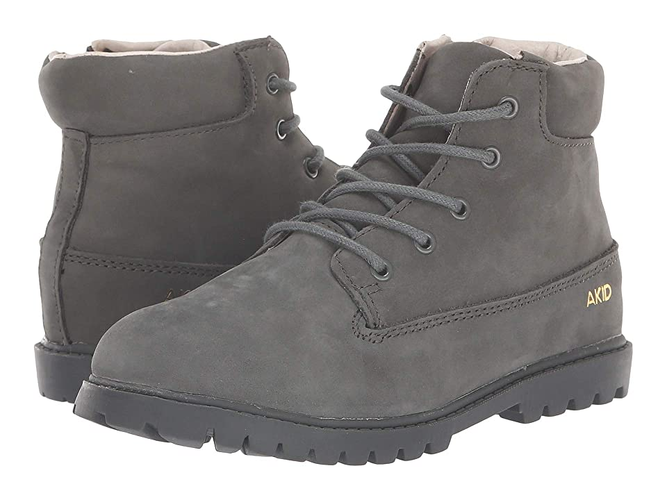 Image of AKID Brand Atticus (Toddler/Little Kid/Big Kid) (Grey) Kid's Shoes