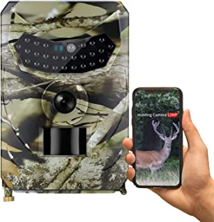 Trail Game Camera, 12MP 1080P Waterproof Hunting Scouting Cam for Wildlife Monitoring with IR Night Vision