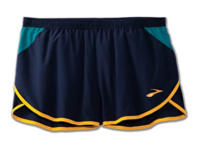 Brooks 3 Hightail Split Shorts (Navy/Spruce/Cider) Men