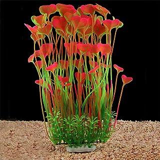QUMY Large Aquarium Plants Artificial Plastic Fish Tank Plants Decoration Ornament Safe for All Fish