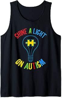 Autism Awareness Shine a Light On Autism Tank Top