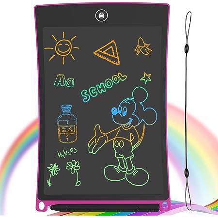 GUYUCOM Tavoletta per Scrittura LCD Schermo da 8,5 Pollici Schermo colorato Doodle Tavolo da Disegno Tavoletta Grafica con Pulsante di Blocco per Regalo di Compleanno per Ragazze (Rosa)