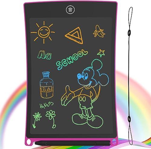 GUYUCOM Tablette Dessin Enfant 8,5 Pouces Ecriture LCD et Tablette Magique Enfant pour Les Enfants avec Une Ligne Col...