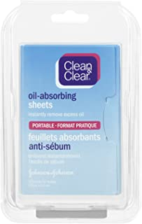 Clean & Clear Oil Absorbing Sheet, Blotting Paper, 50 Count