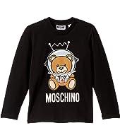 Moschino Kids - Long Sleeve T-Shirt w/ Space Toy Bear (Little Kids/Big Kids)