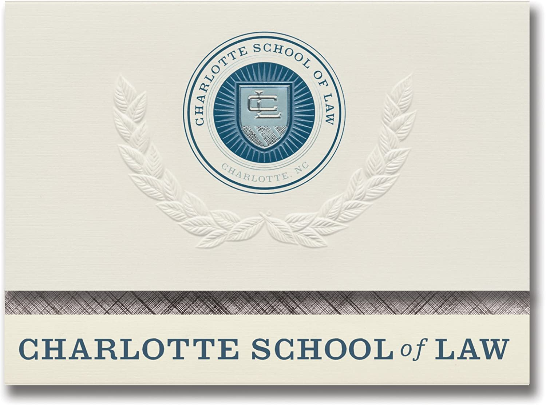 Signature Ankündigungen Charlotte Schule von Gesetz Abschluss Ankündigungen, platin Stil, Elite Pack 20 mit Charlotte Schule der GESETZ Dichtung Folie B0793KCBHJ  | Modern Und Elegant In Der Mode